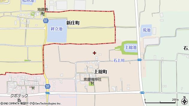 〒632-0091 奈良県天理市上総町の地図