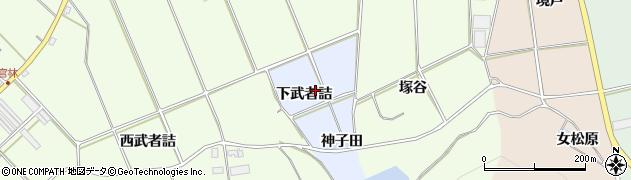 愛知県田原市小塩津町(下武者詰)周辺の地図