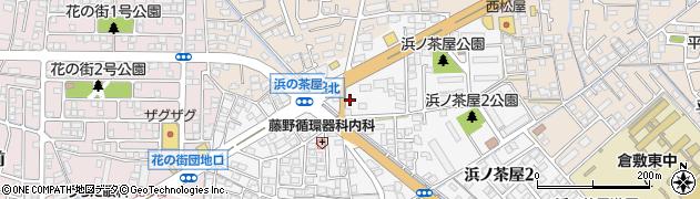岡山県倉敷市浜ノ茶屋周辺の地図
