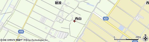 愛知県田原市西山町(西山)周辺の地図