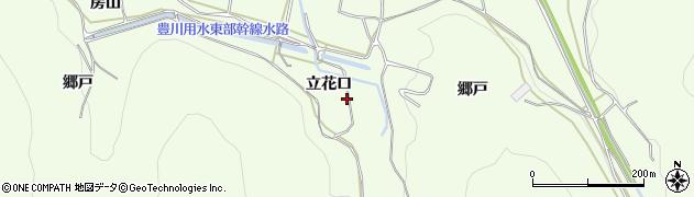 愛知県田原市山田町(立花口)周辺の地図