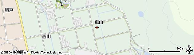 愛知県田原市長沢町(東山)周辺の地図