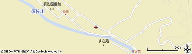 山口県萩市須佐(松原)周辺の地図