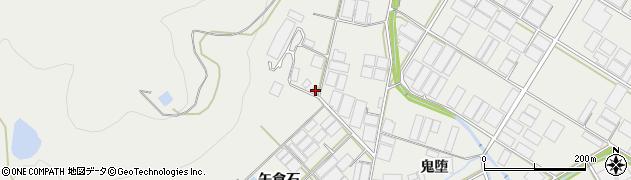 愛知県田原市若見町(矢倉石)周辺の地図