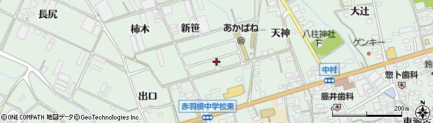 愛知県田原市赤羽根町(新笹)周辺の地図
