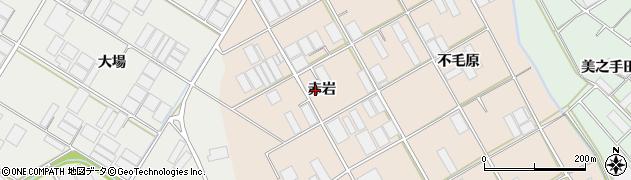 愛知県田原市池尻町(赤岩)周辺の地図