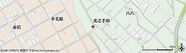 愛知県田原市赤羽根町(美之手田)周辺の地図