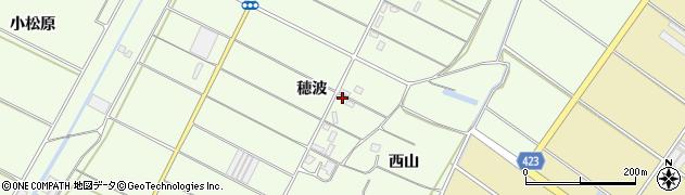 愛知県田原市西山町(穂波)周辺の地図