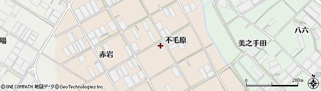 愛知県田原市池尻町(不毛原)周辺の地図