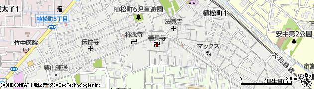 善良寺周辺の地図