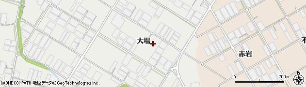 愛知県田原市若見町(大場)周辺の地図