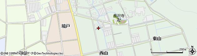 愛知県田原市長沢町(西山)周辺の地図