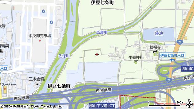〒639-1116 奈良県大和郡山市伊豆七条町の地図