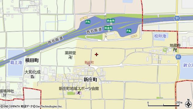 〒639-1114 奈良県大和郡山市新庄町の地図