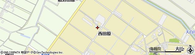 愛知県田原市亀山町(西田原)周辺の地図
