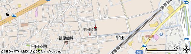 岡山県倉敷市平田周辺の地図