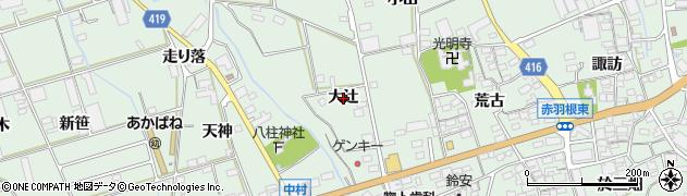 愛知県田原市赤羽根町(大辻)周辺の地図