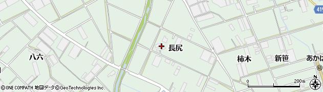 愛知県田原市赤羽根町(長尻)周辺の地図