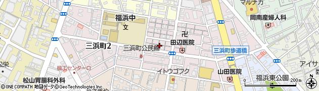 岡山県岡山市南区三浜町周辺の地図