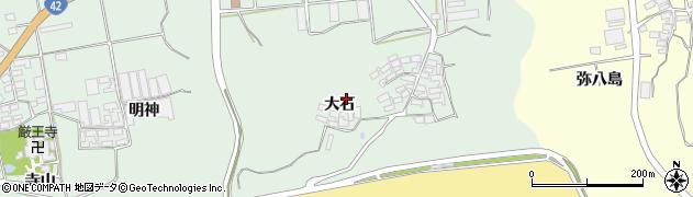 愛知県田原市赤羽根町(大石)周辺の地図
