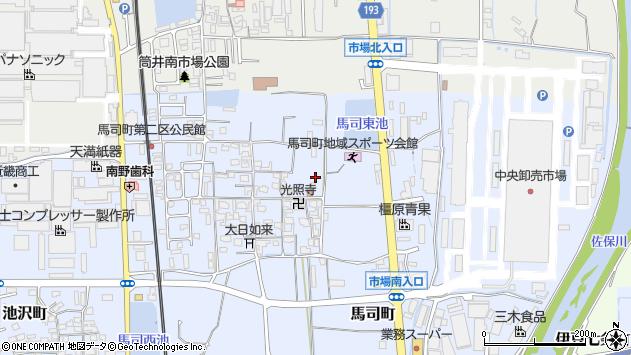 〒639-1124 奈良県大和郡山市馬司町の地図