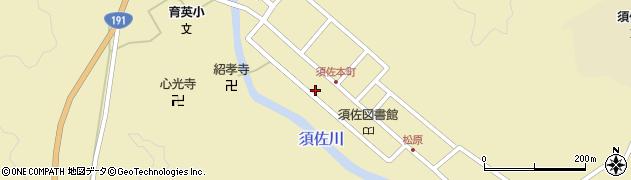 山口県萩市須佐(河原丁)周辺の地図