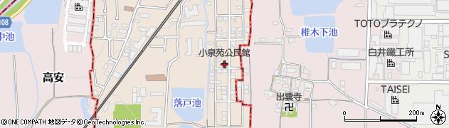 小泉苑公民館周辺の地図