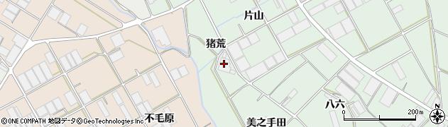 愛知県田原市赤羽根町(猪荒)周辺の地図