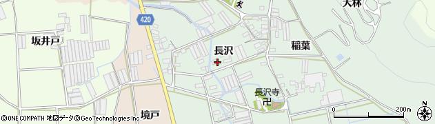 愛知県田原市長沢町(長沢)周辺の地図