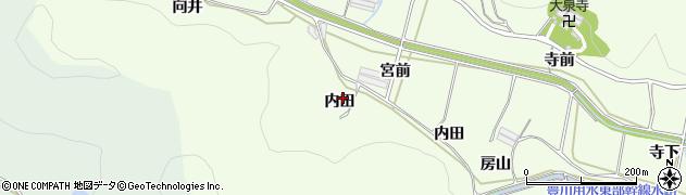 愛知県田原市山田町(内田)周辺の地図