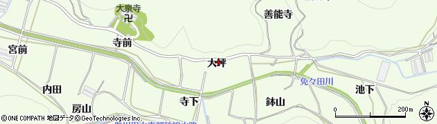 愛知県田原市山田町(大坪)周辺の地図