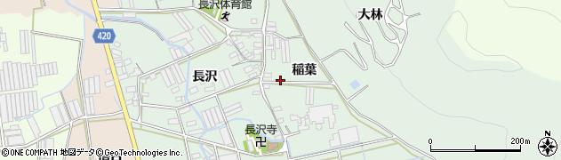愛知県田原市長沢町(稲葉)周辺の地図