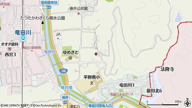 〒636-0911 奈良県生駒郡平群町椿井の地図