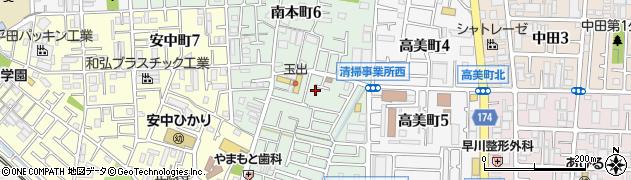 大阪府八尾市南本町周辺の地図
