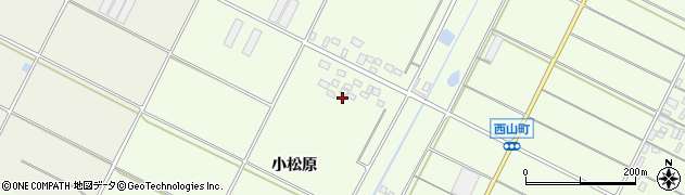 愛知県田原市西山町(小松原)周辺の地図