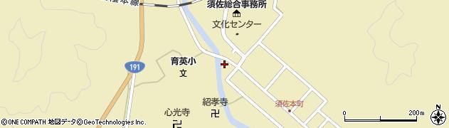 山口県萩市須佐(本町下)周辺の地図