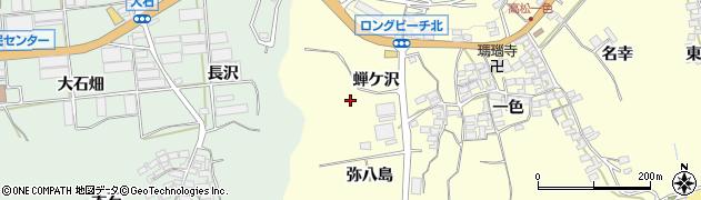 愛知県田原市高松町(蝉ケ沢)周辺の地図