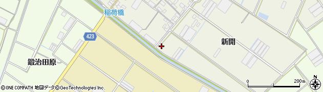 愛知県田原市中山町(新開)周辺の地図