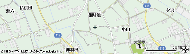 愛知県田原市赤羽根町周辺の地図