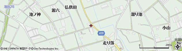 愛知県田原市赤羽根町(仏供田)周辺の地図