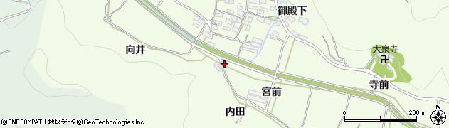 愛知県田原市山田町(宮前)周辺の地図
