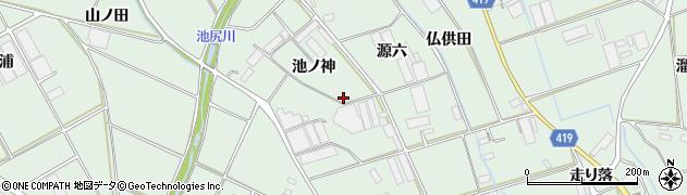 愛知県田原市赤羽根町(池ノ神)周辺の地図