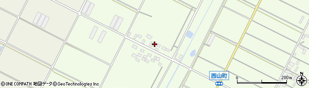 愛知県田原市西山町(大原)周辺の地図