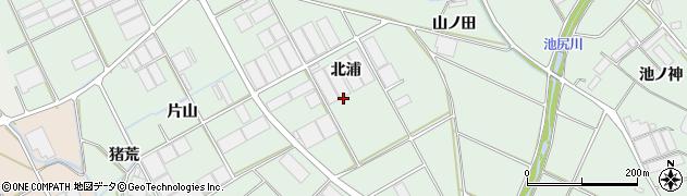 愛知県田原市赤羽根町(北浦)周辺の地図