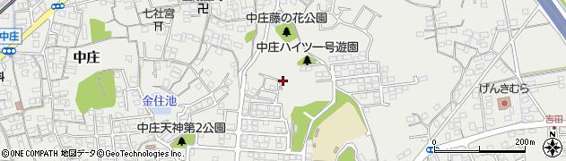 岡山県倉敷市中庄周辺の地図