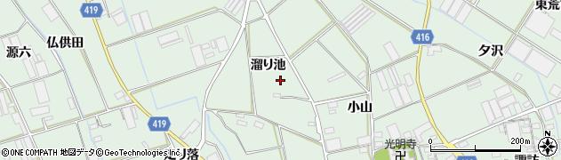 愛知県田原市赤羽根町(溜り池)周辺の地図