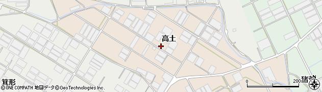 愛知県田原市池尻町(高土)周辺の地図