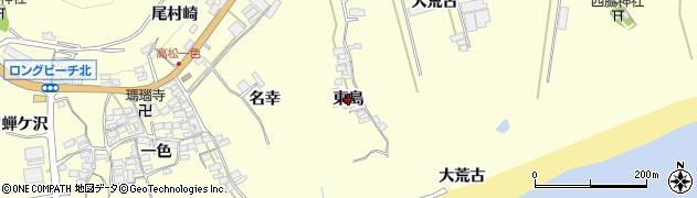 愛知県田原市高松町(東島)周辺の地図