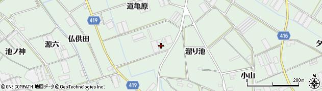 愛知県田原市赤羽根町(道亀原)周辺の地図