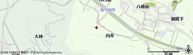 愛知県田原市山田町(向井)周辺の地図